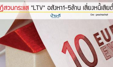 """ทฤษฎีสวนกระแส """"LTV"""" อสังหา1-5ล้าน เสี่ยงหนี้เสียต่ำสุด"""